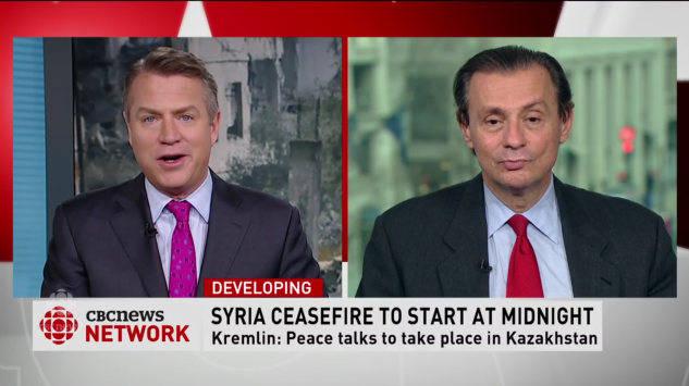 CBC TV interview with GPI President on Cease Fire in Syria