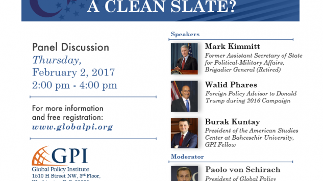 GPI Panel Discussion Turkey – US Relations: A Clean Slate?