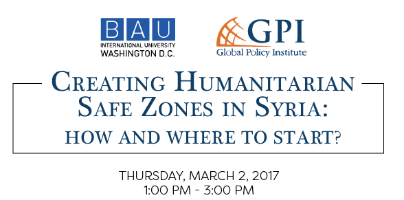 Panel Discussion: Creating Humanitarian Safe Zones in Syria: How and Where to Start?